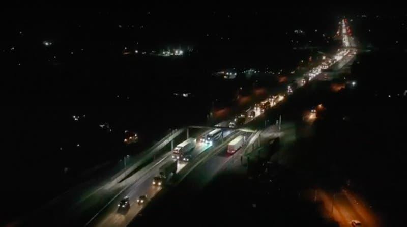 [VIDEO] Carabineros levantó cordón sanitario en Ruta 5 Sur