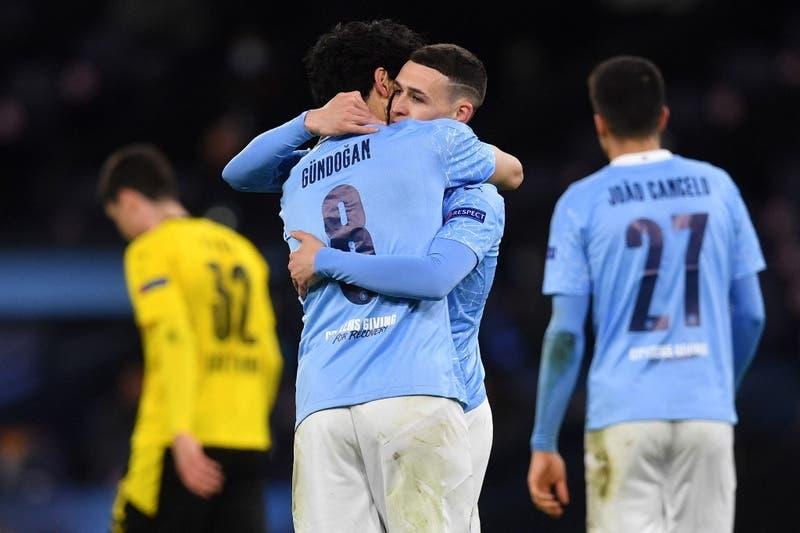 Manchester City logra agónica victoria sobre Borussia Dortmund por los cuartos de la Champions