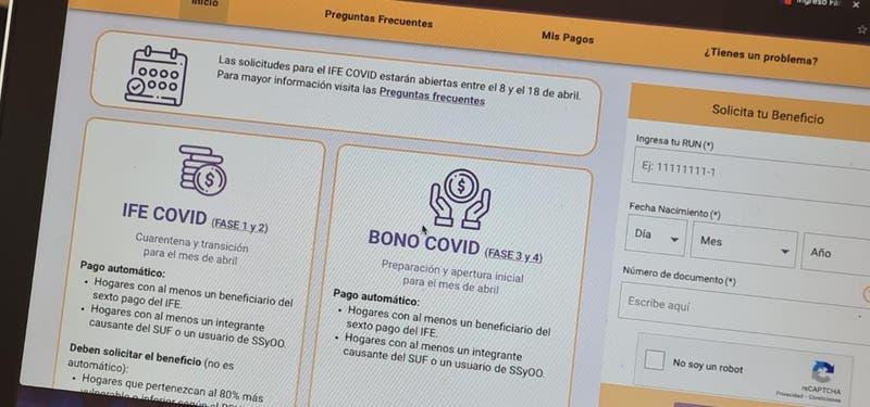 Comienza postulación al IFE y Bono COVID de abril: Cómo postular y saber si me corresponde