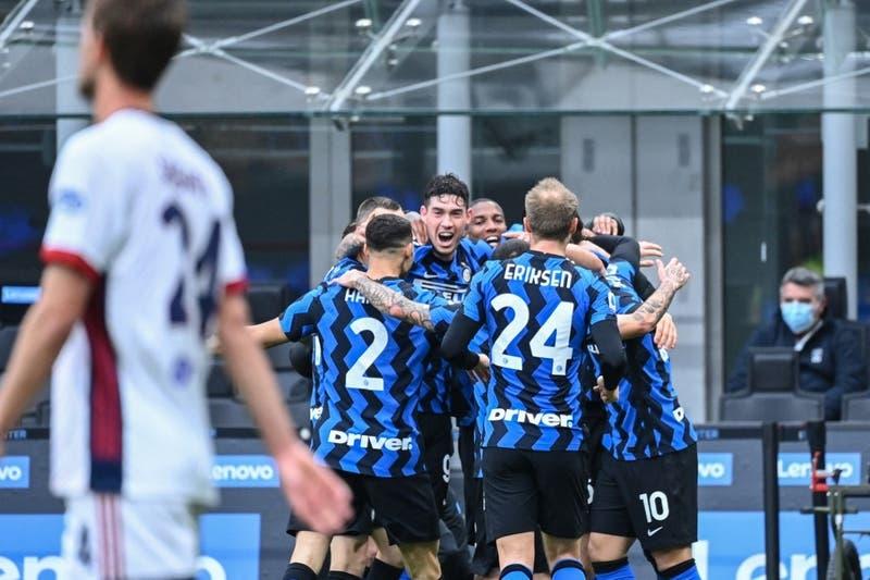 Le anularon un gol a Alexis: Inter consigue una trascendental victoria ante Cagliari
