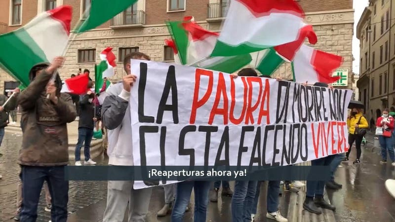 Segunda semana de protestas en Italia: Locatarios contra el confinamiento