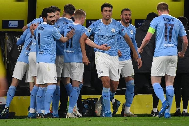 Manchester City elimina al Borussia Dortmund y jugará semifinal de la Champions ante el PSG