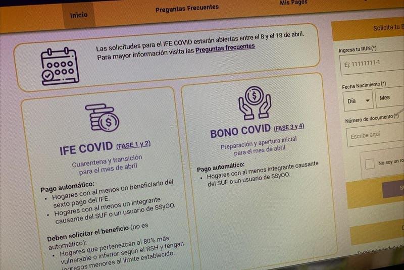 Esta semana finaliza postulación al IFE y Bono Covid de abril: ¿Cómo saber si me corresponde?