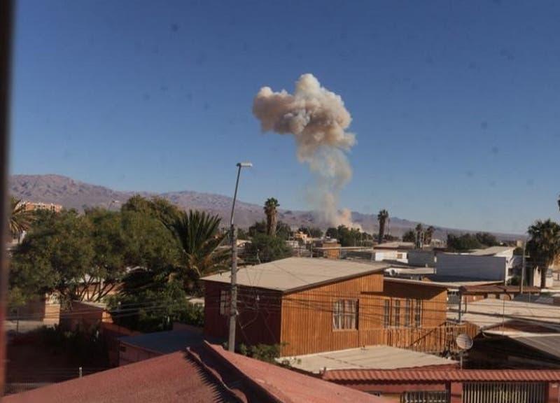 Reportan fuerte explosión al sur de Calama