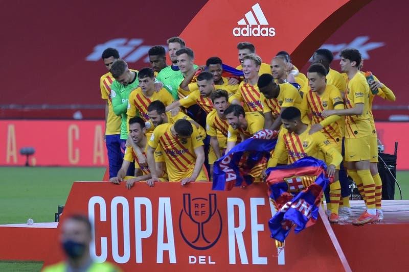 Barcelona se corona campeón de la Copa del Rey tras golear al Athletic de Bilbao