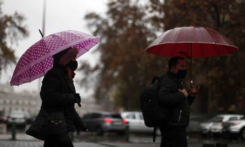 Lluvia en la región Metropolitana: A qué hora comenzará a llover y cuál será su intensidad