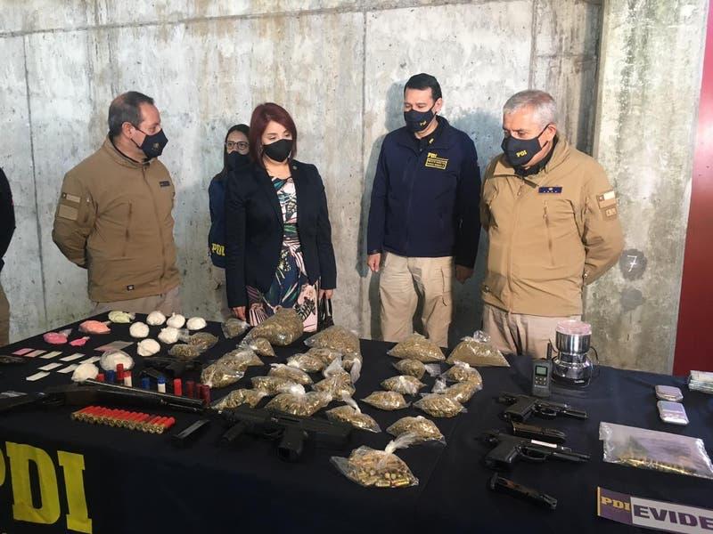 Incautan 4.7 toneladas de marihuana a banda en la región del Ñuble