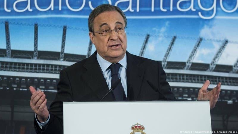 """Florentino Pérez afirma que proyecto de Superliga europea está en """"stand-by"""""""