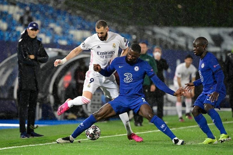 Real Madrid y Chelsea igualan en primera semifinal de la Champions y todo se definirá en Londres