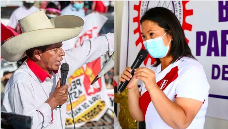 El debate entre Castillo y Fujimori a un mes de la segunda vuelta presidencial en Perú