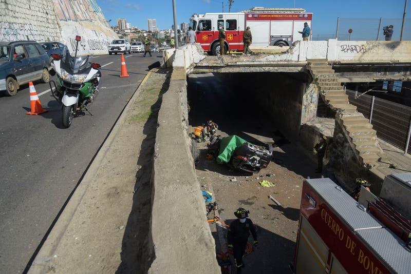 Nuevo accidente de tránsito en puente Capuchinos deja un fallecido en Viña del Mar
