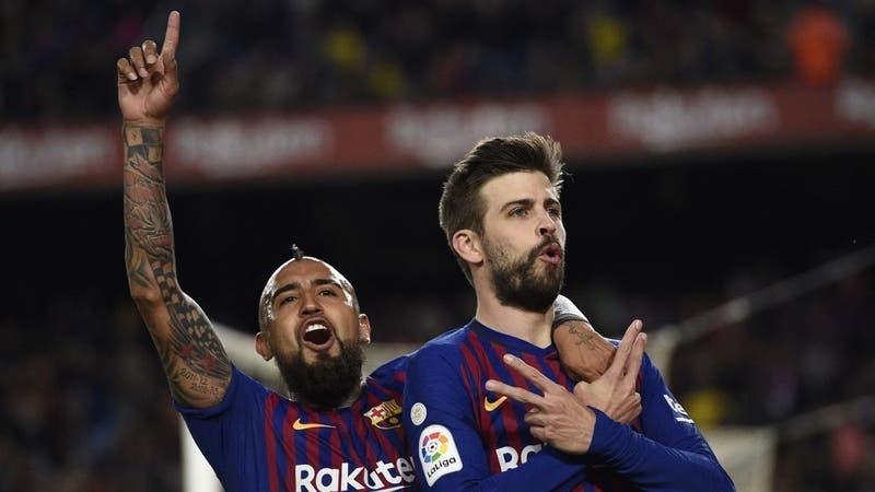 """""""Juegas contra cojos"""": La feroz troleada de Gerard Piqué a Arturo Vidal tras ser campeón con Inter"""