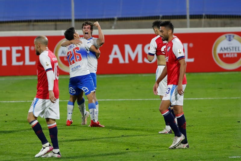 Revive los goles de Universidad Católica en la victoria sobre Nacional por Copa Libertadores