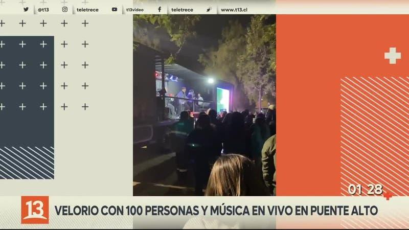 [VIDEO] Realizan velorio con un centenar de personas y música en vivo: Organizador fue detenido
