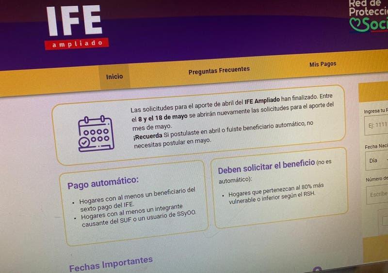 IFE ampliado de mayo: cuándo comienza la postulación para el beneficio de hasta $100 mil por persona
