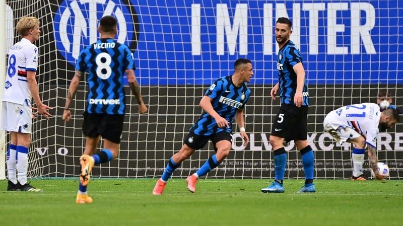 Alexis anotó dos goles en triunfo del Inter