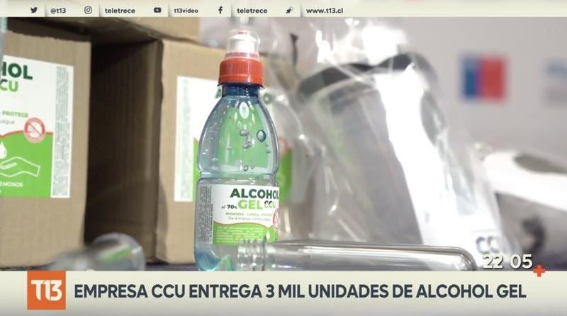 Alcohol gel a partir de cervezas: 3.000 unidades para proceso electoral