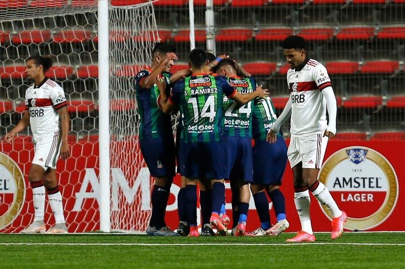Unión La Calera no aguanta la ventaja e iguala 2 a 2 ante Flamengo por Copa Libertadores
