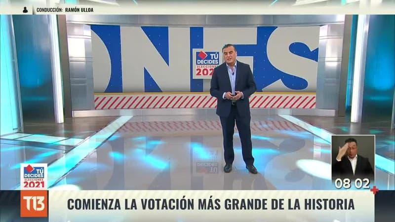 Inclusión: Canal 13 destaca con lenguaje de señas en transmisión especial de elecciones