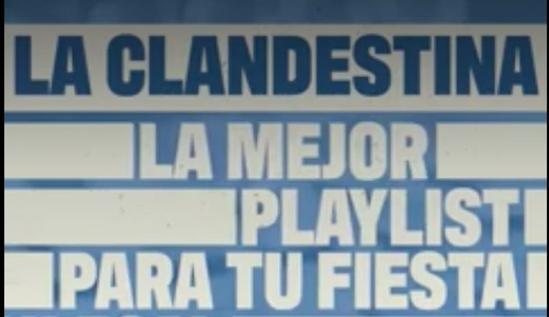 """""""La Clandestina"""": La playlist ideal para escuchar en una fiesta en pandemia"""