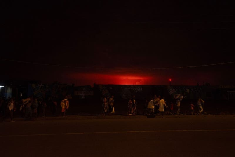 [FOTOS Y VIDEOS] Entra en erupción el volcán Nyiragongo en la República Democrática del Congo