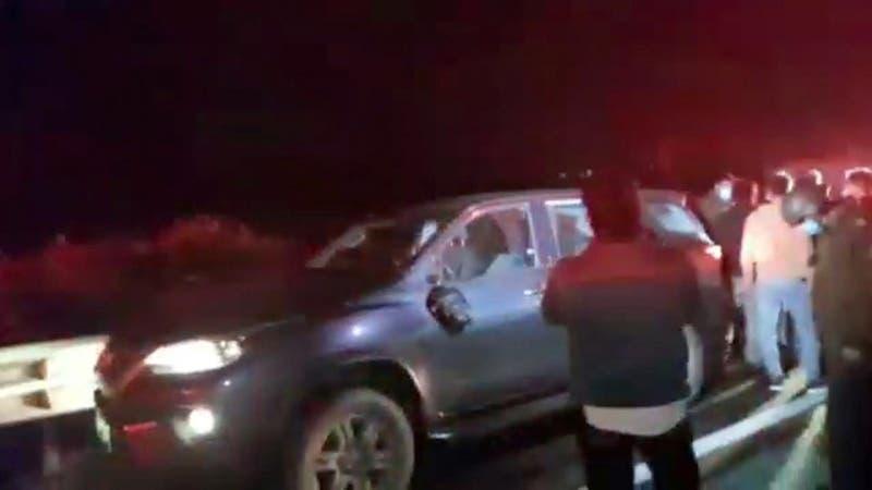 Hombres escaparon por 50 kilómetros en carretera tras un portonazo