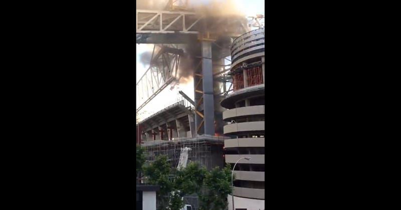 Incendio afectó al Estadio Santiago Bernabéu del Real Madrid