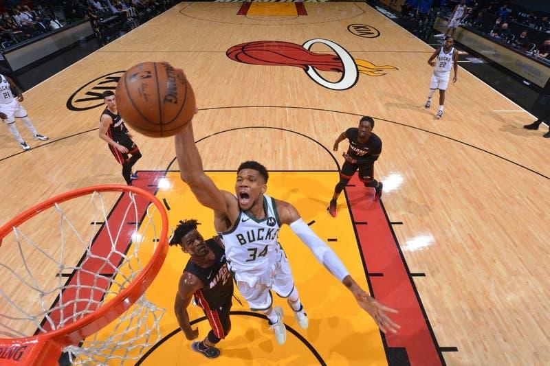 Giannis y los Bucks barren 4-0 al Miami Heat, subcampeones de la NBA