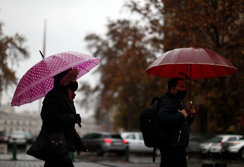 Alerta Temprana Preventiva para 10 comunas de la Región Metropolitana por precipitaciones