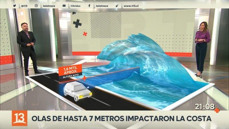 Nuevo tren de olas azotarán las costas de Chile la noche de este miércoles