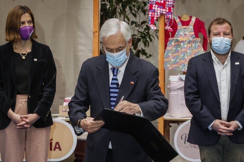 Presidente Piñera promulga ley que entrega bono a pymes afectadas por la pandemia