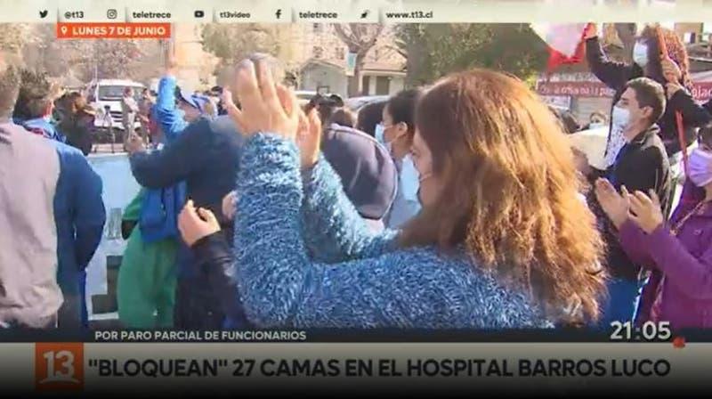 """""""Bloquean"""" 27 camas en Hospital Barros Luco"""