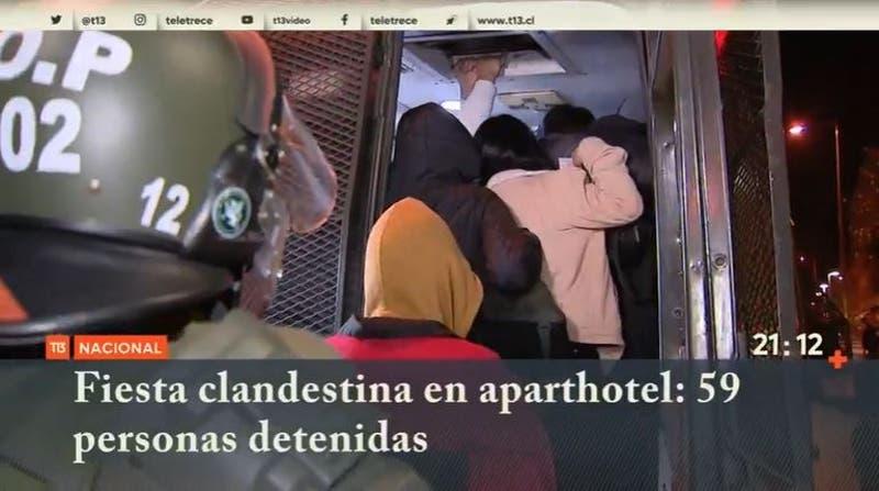 Fiesta clandestina en aparthotel: 59 personas detenidas
