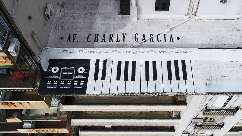 El mural de Charly García