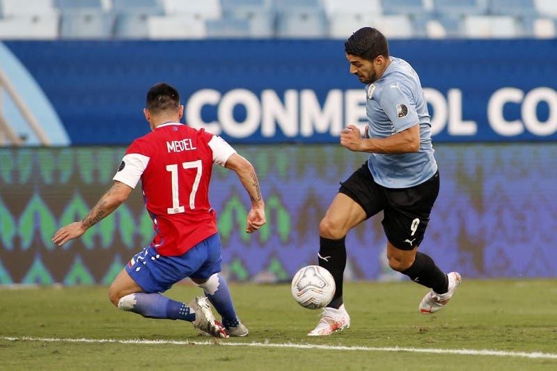 [EN VIVO] Suárez anota: Chile y Uruguay están 1 a 1 en Cuiabá