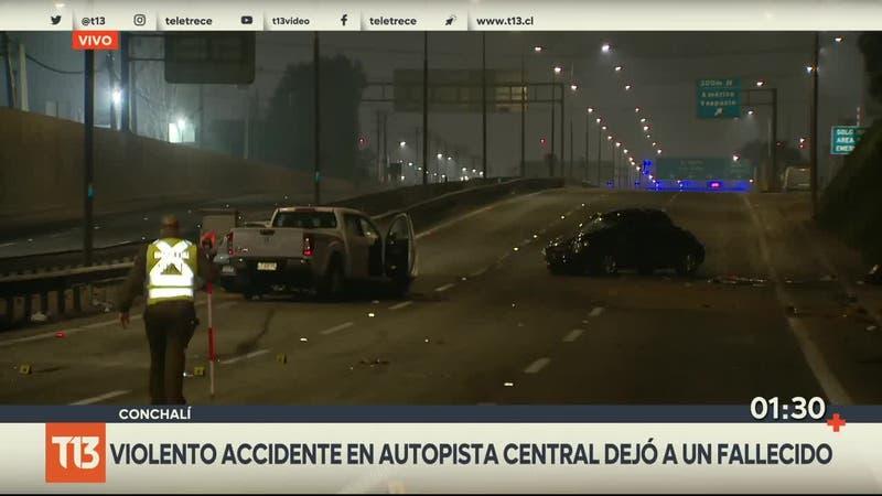 [VIDEO] Accidente automovilístico deja una víctima fatal en la Autopista Central