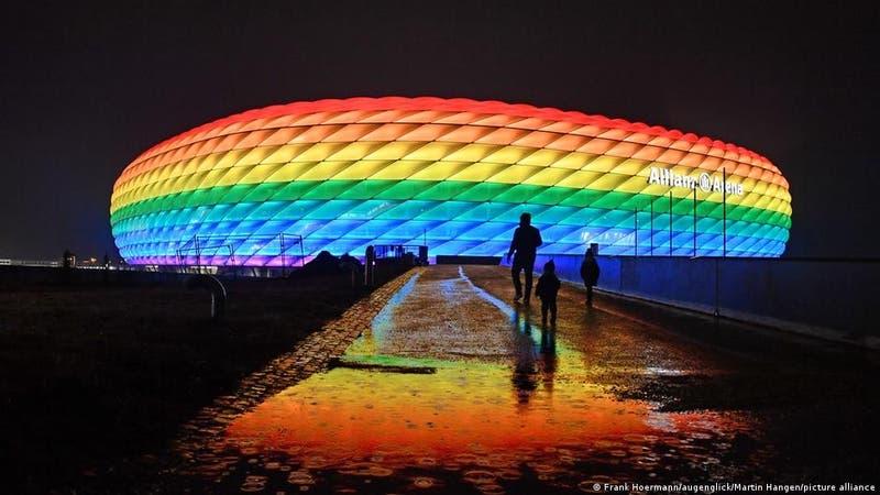 UEFA rechaza iluminación arcoíris del estadio de Múnich para el Alemania-Hungría