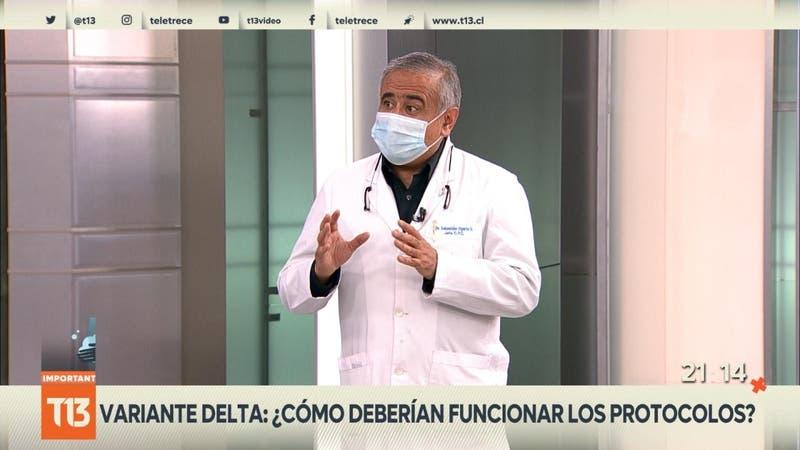 """[VIDEO] Doctor Ugarte por variante Delta: """"En cinco segundos una persona se puede contagiar"""""""