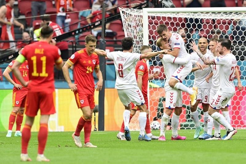 Dinamarca goleó a Gales y se metió en cuartos de la Eurocopa 2020