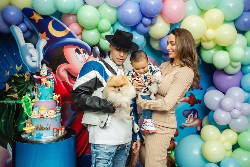 Lisandra Silva y Raúl Peralta comparten imágenes del primer cumpleaños de su hijo Noah