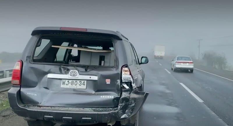 [VIDEO] 20 vehículos involucrados en choque por alcance en Ruta 5 Sur