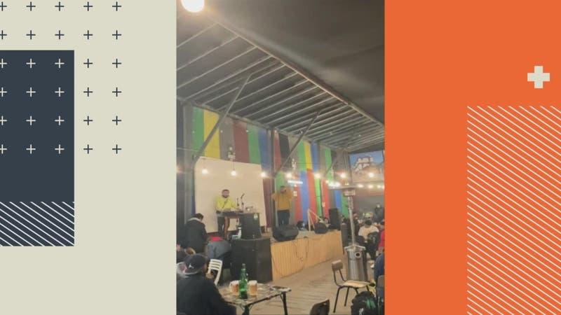 """Fiscalizan """"recital"""" con más de 80 personas en pub de Barrio Bellavista"""