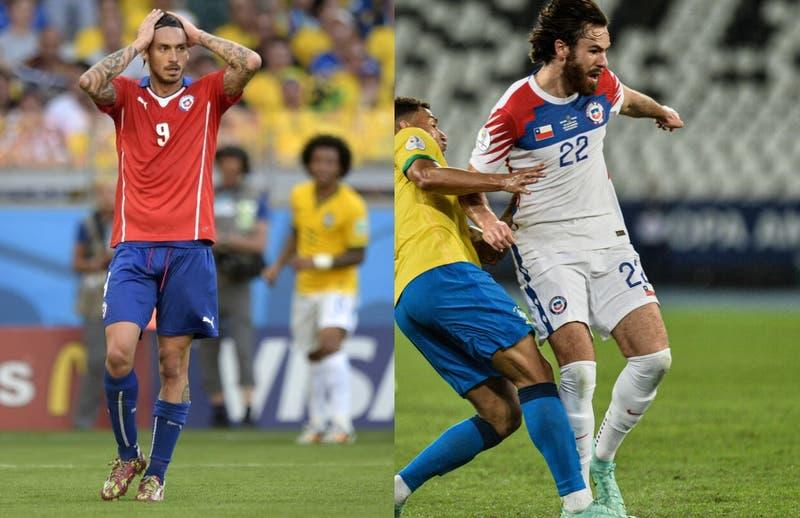 ¿Lo viviste igual? Pinilla recuerda su palo ante Brasil tras cabezazo de Ben que dio en el travesaño