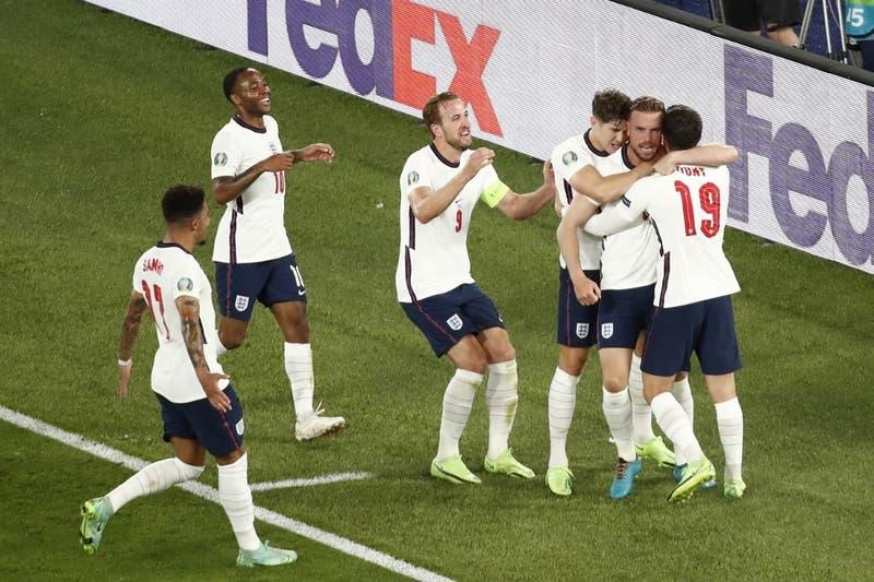 Inglaterra golea a Ucrania y enfrentará a Dinamarca en semifinales de la Euro 2020