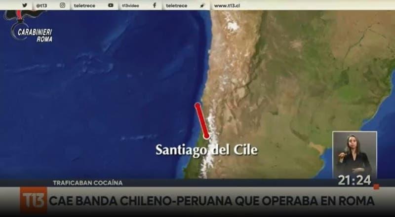 Cae banda chileno-peruana que operaba en Roma