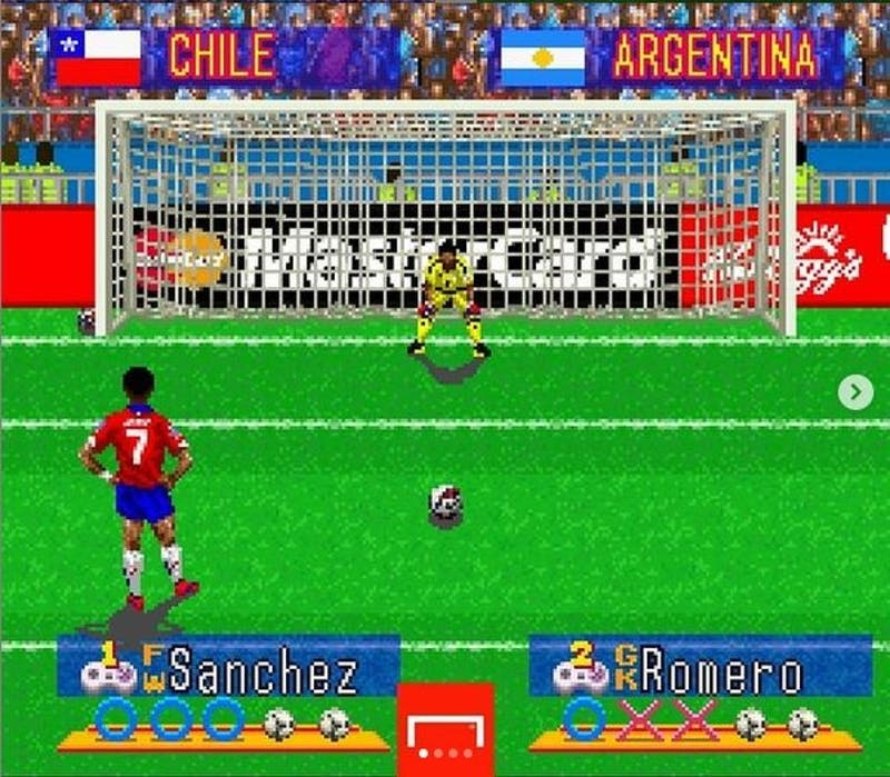 Seis años de la primera Copa América de Chile: Recrean penal de Alexis en juego de Super Nintendo