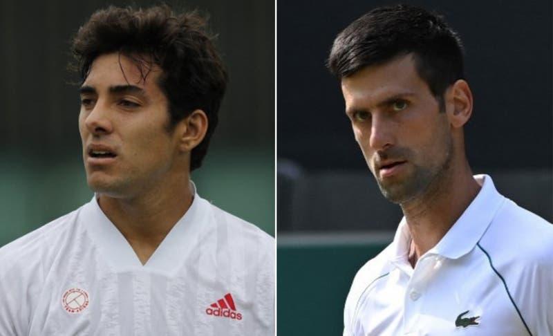 Revisa a qué hora juega Cristian Garín contra Novak Djokovic en Wimbledon