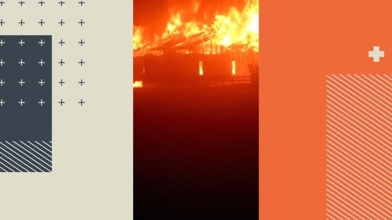 [VIDEO] Víctimas huyeron con lo puesto: Familia con niños escapa de ataque incendiario en Cañete