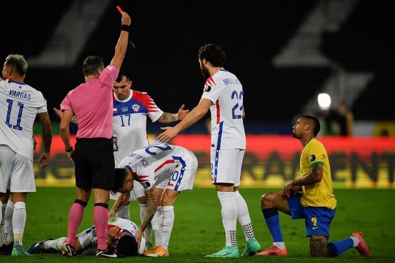 Se pierde final de Copa América: La reacción de Neymar ante sanción a Gabriel Jesús por falta a Mena