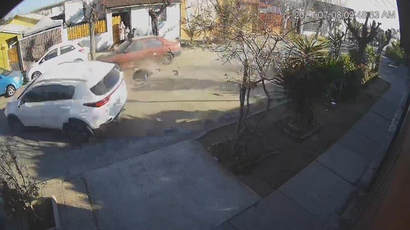 Persecución termina con brutal atropello a motociclista en La Cisterna